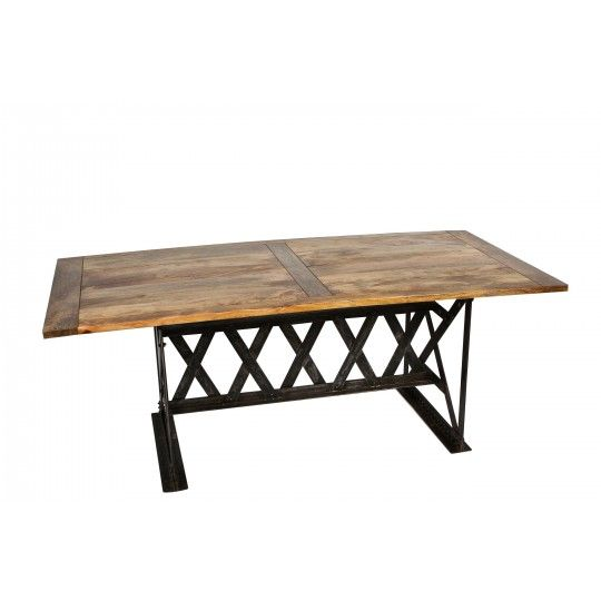 Industrial Cross Hatch Dining Table, By CDI Furniture