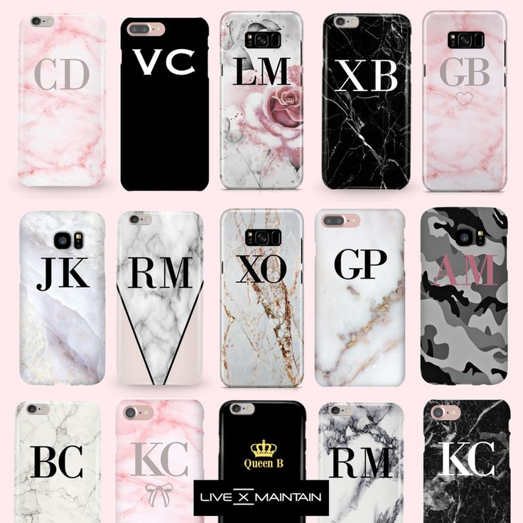 Make your iPhone✖️Samsung personal with your initials, name or choose something random, the choice is yours. CREATE YOURS NOW >> https://livexmaintain.com/collections/personalize-your-case