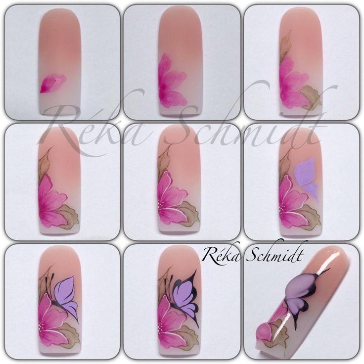 3D butterfly decoration on nails