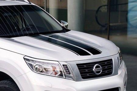 Nissan NP300 Navara (D23M) Sticker: 2 Stripes on Bonnet & Tailgate, Black - KE5374K001