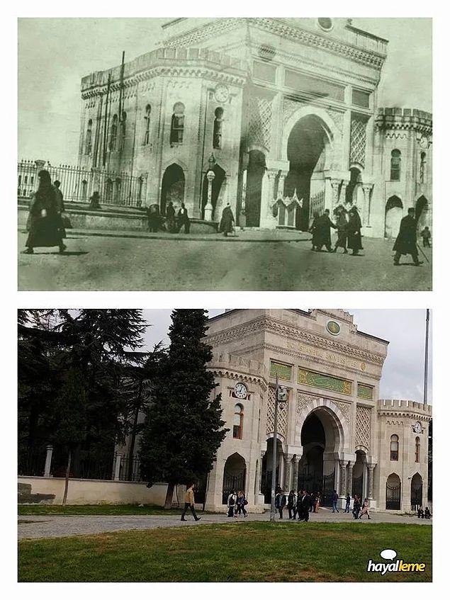 1920'li yıllar ve günümüz Seraskeriye Kapısı.