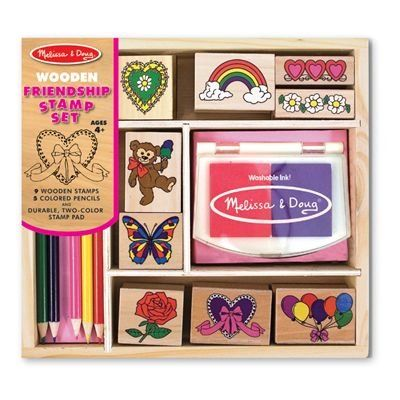 News Melissa & Doug Friendship Stamp Set   buy now     $9.99 Featuring a rainbow, hearts and more, this set contains everything you need for cute art projects to share with friends! Nine s... http://showbizlikes.com/melissa-doug-friendship-stamp-set/