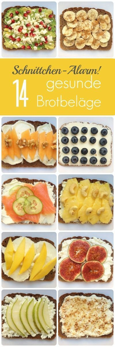 Immer nur Wurst, Schnittkäse und Marmelade zu essen ist auf Dauer eintönig. Wir haben deshalb 14 au�ergewöhnliche und gesunde Brotbeläge zusammengestellt.