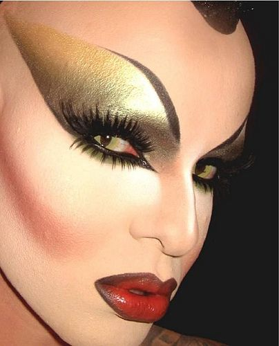 Makeup: Jennifer Corona || The reptile contacts really creep me out! LOL