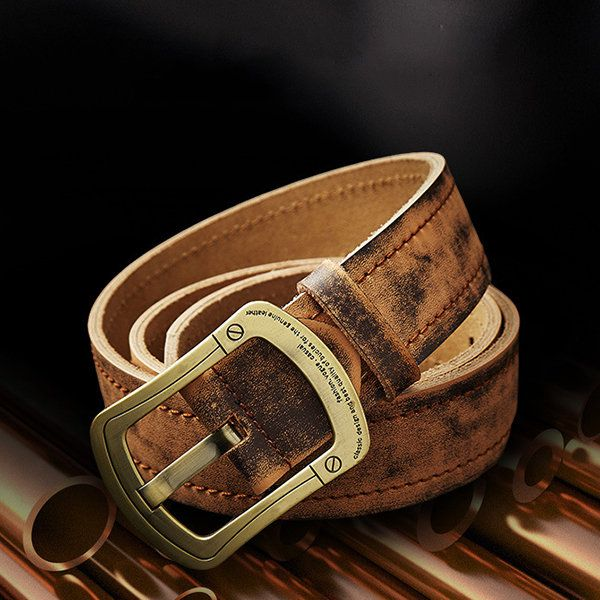 125CM Retro Casual Handmade Genuine Belt Durable Second Layer Of Leather Belt For Men