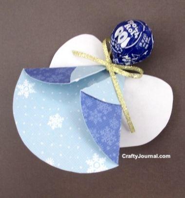 Lollipop angels - delicious and easy Christmas favors // Nyalóka angyalkák - kreatív édesség csomagolás // Mindy - craft tutorial collection // #christmascrafts #christmasdecors #christmasdiy #diy #DIY #christmas #christmaskidscrafts