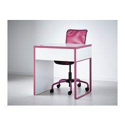 MICKE Bureau - blanc/rose - IKEA-L=73cmx50(p)