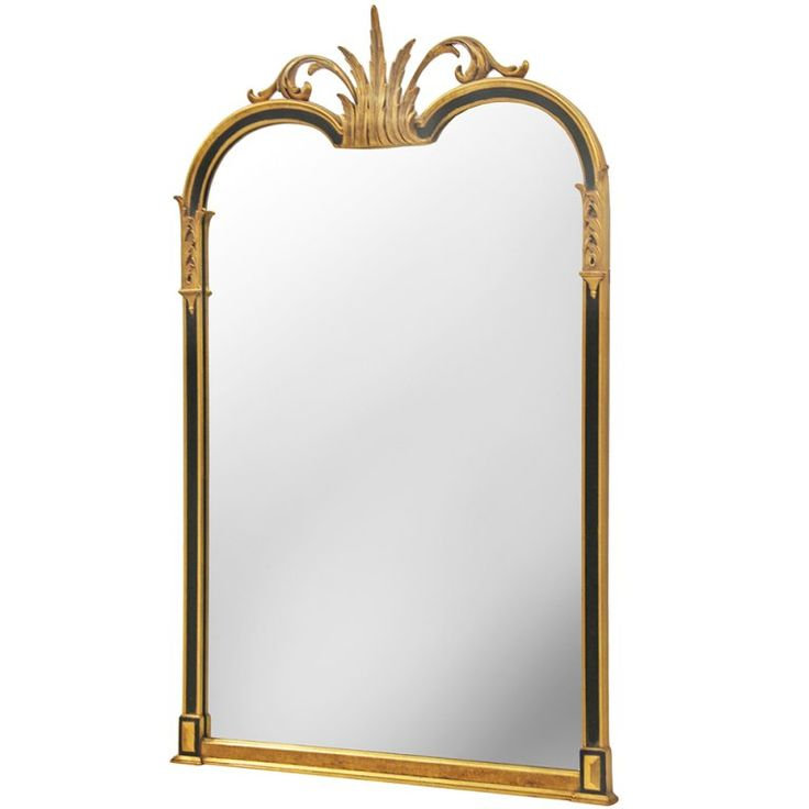 Handsome Handcarved Neo Classical Wall Mirror   From a unique collection of antique and modern wall mirrors at https://www.1stdibs.com/furniture/mirrors/wall-mirrors/
