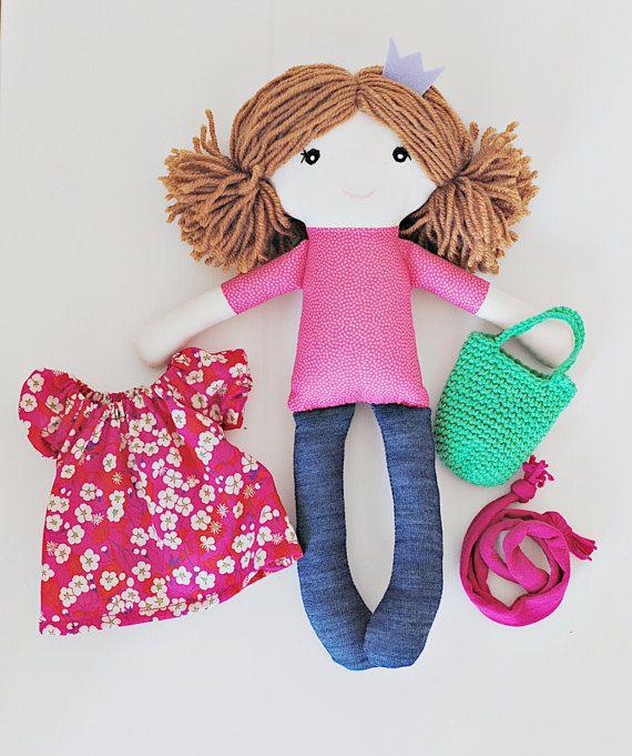 Rag doll cloth doll Alice soft doll doll for girls by pompondolls