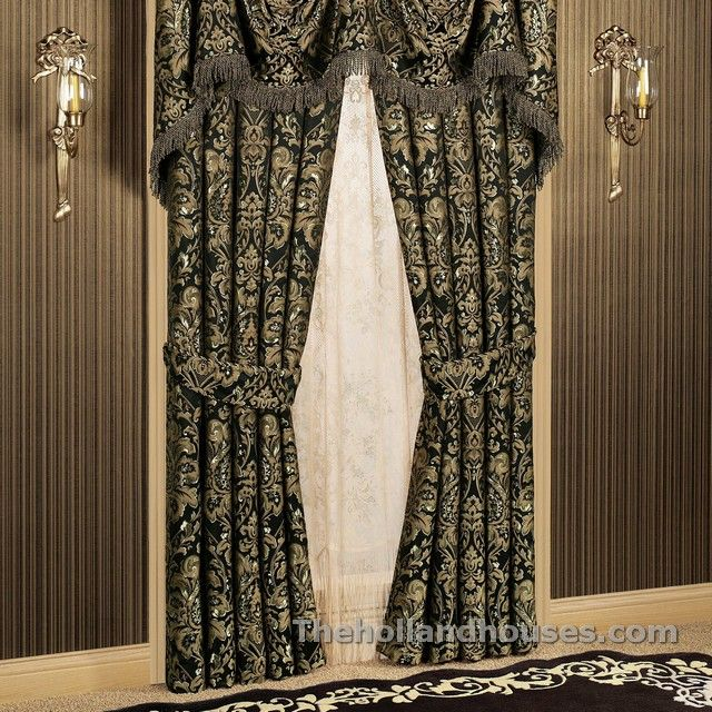 Black And Gold Damask Curtains