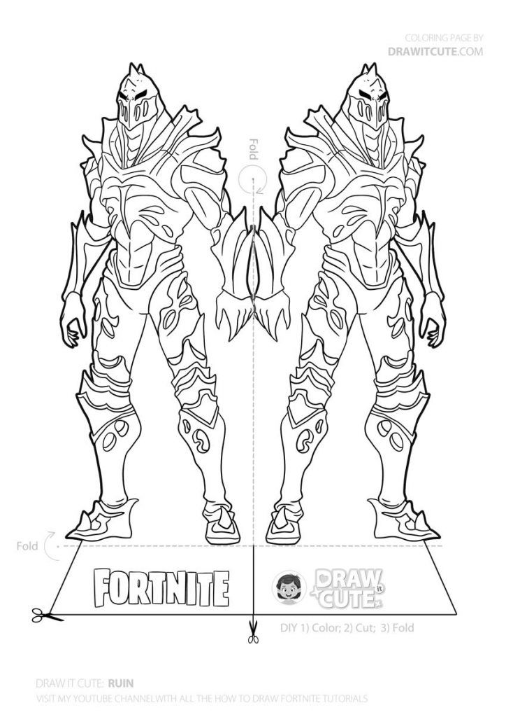 Fortnite Zero Coloring Pages Photos