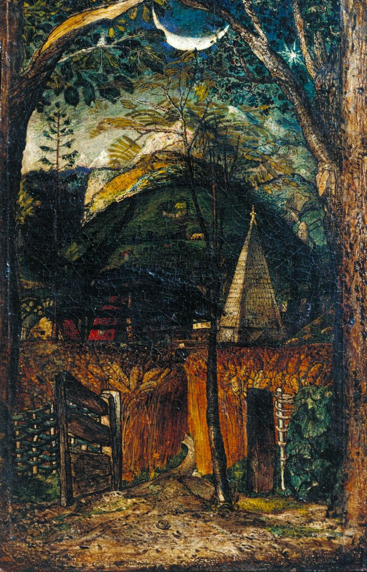 Samuel Palmer 'A Hilly Scene', c.1826–8