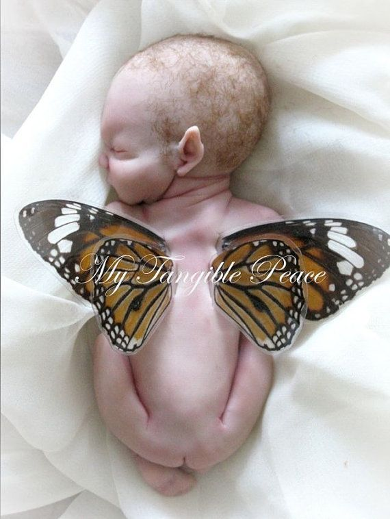 Ooak Miniature Hand sculpted Newborn Fairy baby by mytangiblepeace, $75.00