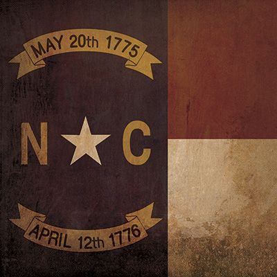 North Carolina Flag | City Prints Map Art