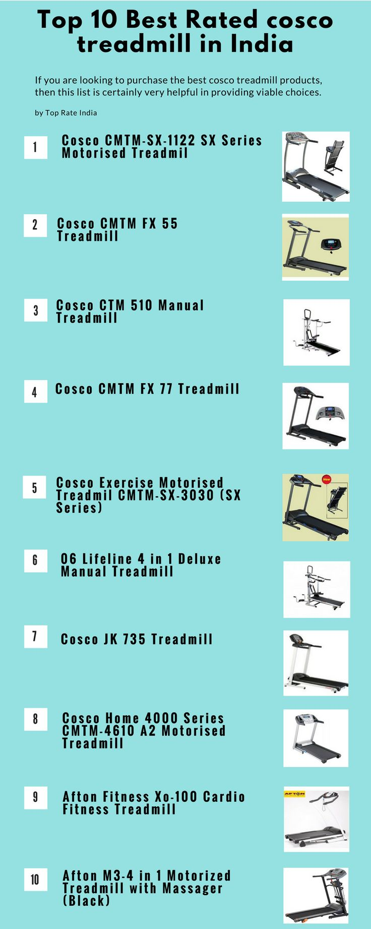 Buy best selling Cosco Treadmills online at low prices in India.  Check Cosco branded Treadmills products at top prices in India. For more Visit http://toprateindia.com/top-10-best-rated-cosco-treadmill-in-india/