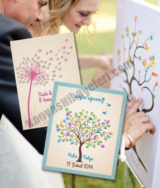 """Düğün Ağacı – Düğün Parmak Baskı Ağacı – Düğün Misafir Parmak İzi Ağacı  Klasik düğün misafir defterine bir alternatif mi arıyorsunuz? Misafirleriniz, """"yaprakları"""" kendi parmak izlerinden ve imzalarından oluşan Düğün Ağacı'nıza bayılacaklar.  www.kanvashikayeleri.com #dugunagaci #evlilik #dugun #kanvashikayeleri #canvastablo #kanvastablo #tablo #weddingtree"""
