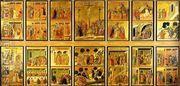 Stories of the Passion (Maesta, verso) 1308-11  by Duccio Di Buoninsegna
