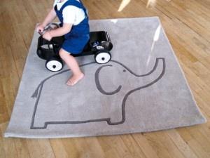 Tapis Enfant laine Eléphant
