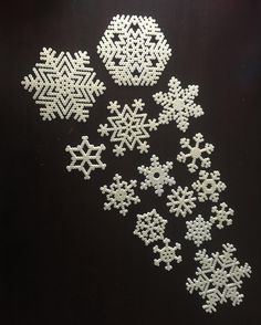 Snowflakes perler beads by janszell