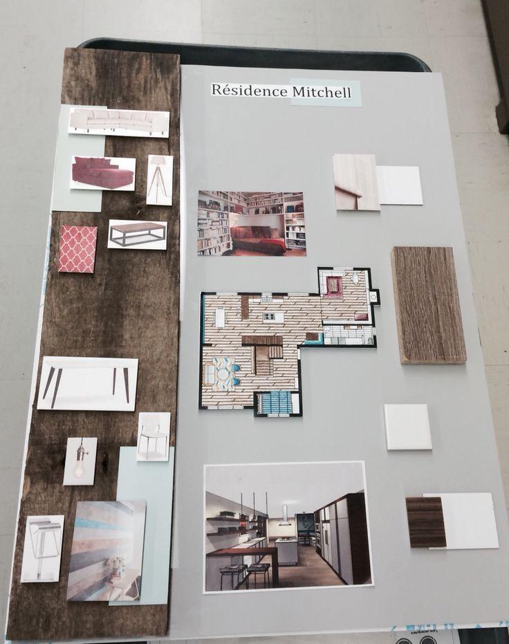 Carton de présentation (plexiglass et bois) - Residence Mitchell