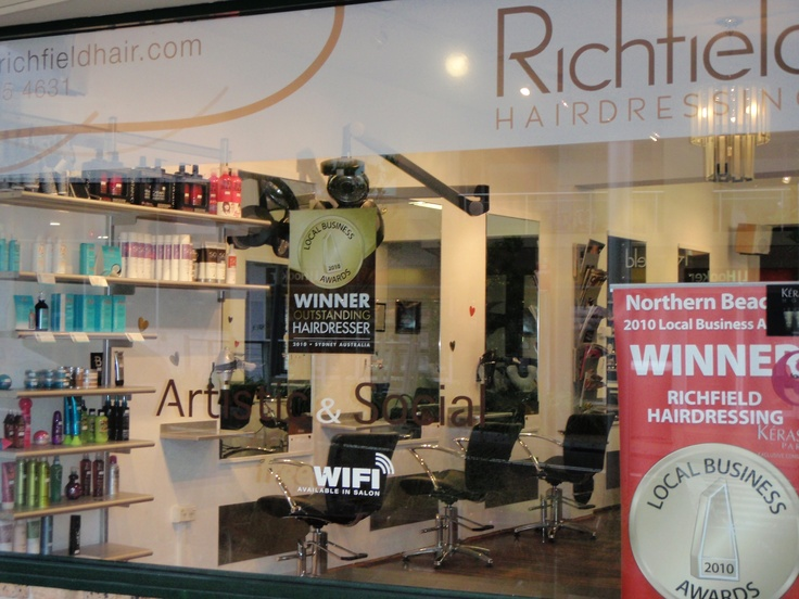 Front of shop @ Richfield Hairdressing Freshwater