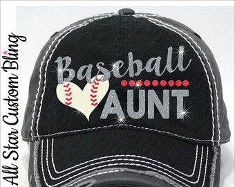 Glitter Baseball Mom Hat Baseball Mom by AllStarCustomBling