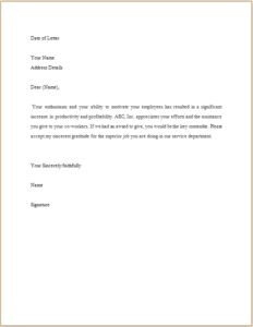 Appreciation Letter DOWNLOAD at http://www.templateinn.com/40-official-letter-templates-for-everyone/