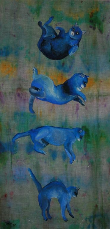 "daniela dente; Acrylic, 2011, Painting ""Alice's Fall"""