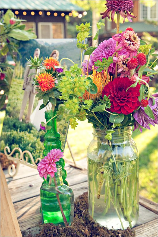 Getting married in the summer? This may seem risky but if you have a superstar Wedding Planner/DOC - Have them stop by your local Farmers Market the *EARLY* morning of your wedding and pick up some wonderful wildflower arrangements and cheaper bouquets.