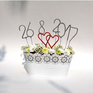 Svatební prskavky - důležité datum i na váš svatební stůl.