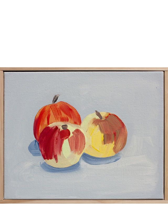 """Devoto Apples in French Primary Yellow and Grenade Red"" by Isabel Vexin""Devoto Apples in French Primary Yellow and Grenade Red"" by Isabel Vexin"