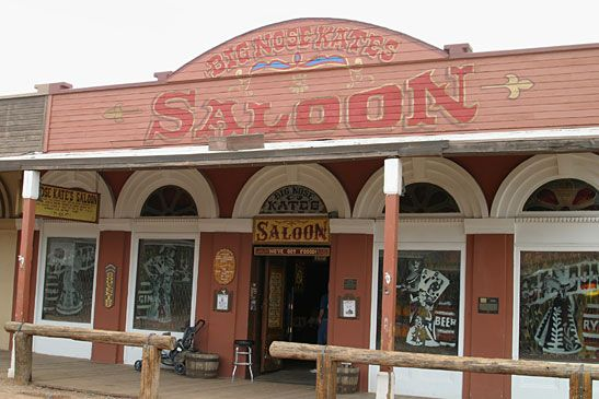 Big Nose Kate's Saloon, Tombstone, AZ - opened in 1881 as The Grand Hotel, which boasted fine dining and catered to everyone from locals to out of towners. The Clantons and the McLaurys stayed there the night before  three of them were killed in the shootout at the OK Corral. There is much activity surrounding the building including apparitions, objects moving on their own, doors and cupboards opening and closing on their own, cold spots, footfalls, disembodied voices and much, much more.