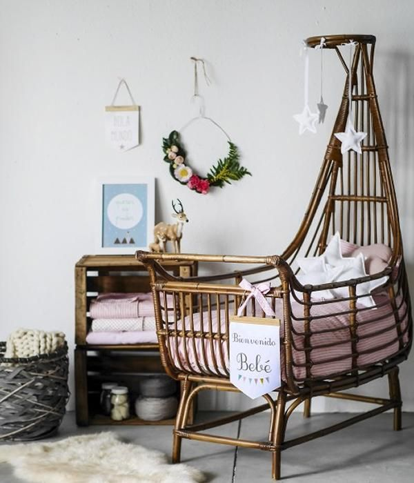 90 best Cunas images on Pinterest Baby room, Child room and Cribs - babywiege aus holz lulu nanna ditzel