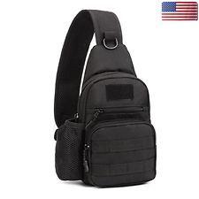 Mens Backpack Molle Tactical Sling Chest Bag Pack Messenger Shoulder Outdoor Bag