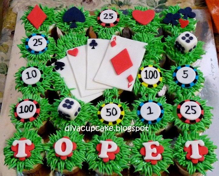 Grooms cake...Sugar Cakes and Cupcakes: Poker Cupcake