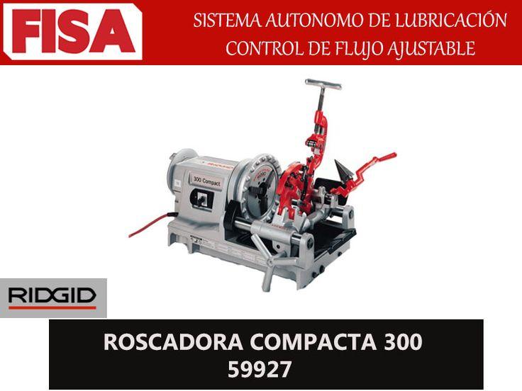 ROSCADORA COMPACTA 300 59927. Sistema autonomo de lubricación, control de flujo ajustable- FERRETERIA INDUSTRIAL -FISA S.A.S Carrera 25 # 17 - 64 Teléfono: 201 05 55 www.fisa.com.co/ Twitter:@FISA_Colombia Facebook: Ferreteria Industrial FISA Colombia