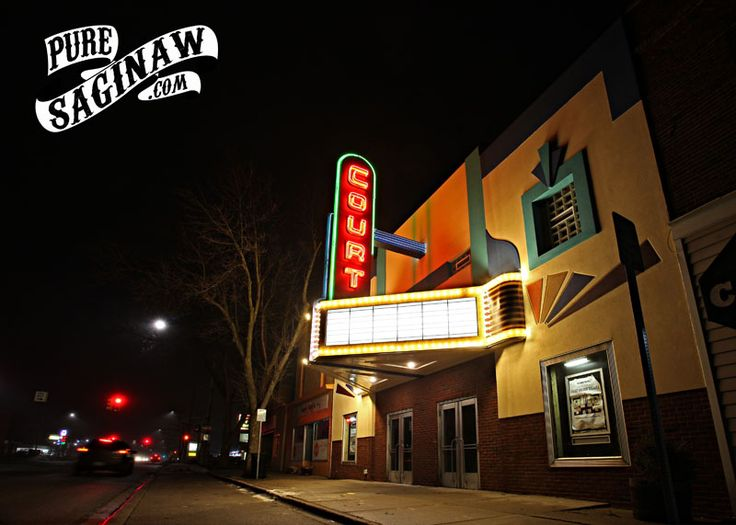 The Court Street Theater, showing off her newly updated exterior