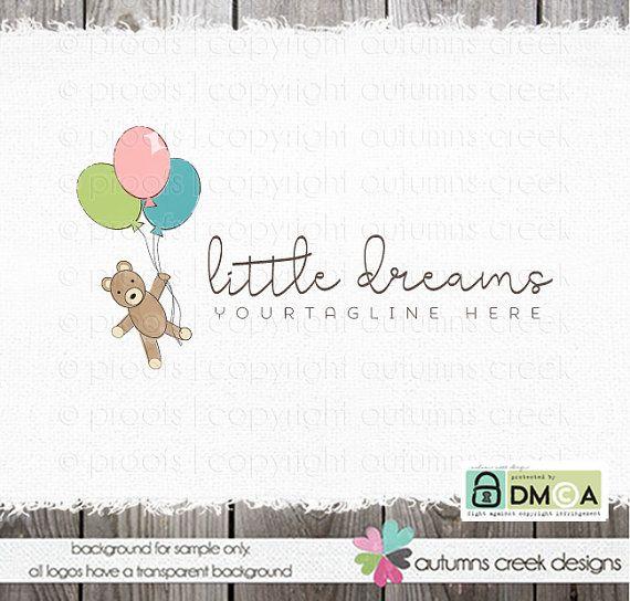 teddy bear logo photography logo party logo by autumnscreek