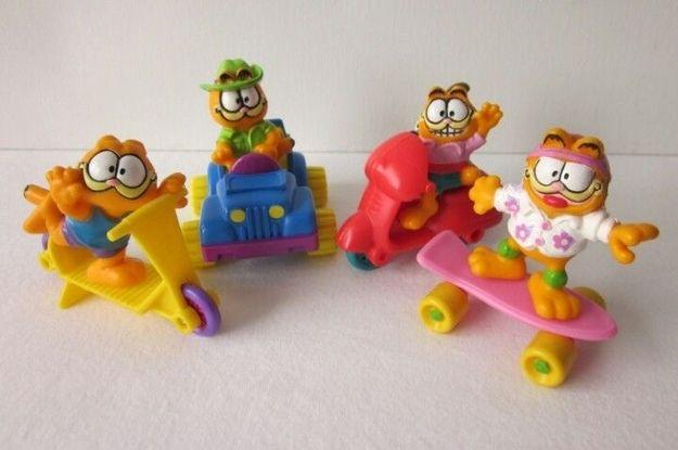 McDonald' Garfield Vehicles (1989)