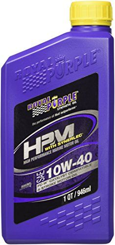 Royal Purple 11629 HPM FC-W Multi-Vis 10W-40 High Performance Synthetic Marine 4-Stroke Motor Oil - 1 qt.:   Royal Purple High Performance Marine Oil (HPM) is specifically formulated to maximize performance and provide superior protection for four-stroke marine engines.  It exceeds the stringent NMMA FC-W Catalyst Compatible warranty requirements. HPM engine oils provide exceptional anti-wear protection with a load-carrying capacity multiple times that of ordinary mineral or synthetic ...