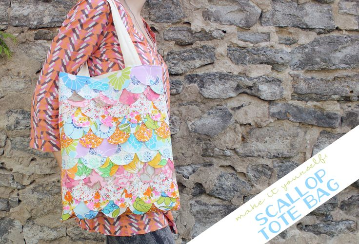 my girl thursday: scallop tote bag: Bag My Girl, Scalloped Tote, Bags Baskets Etc, Tote Bags, Crafts Handbags, Bags Clutches Totes Places