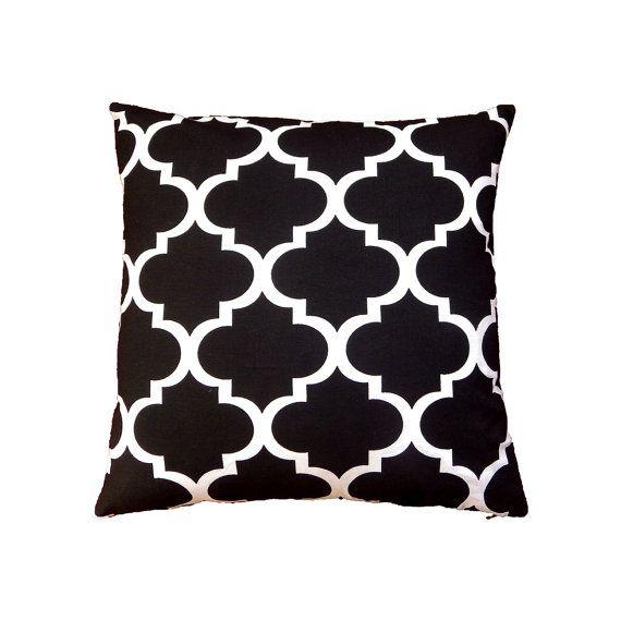 Monochrome Cushion Black White Cushion Cover by MirraDesignStudio