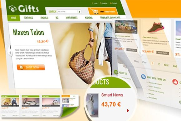 Based on YT-Framework and specially designed for Joomla 1.7 and 2.5, our new SJ Gifts - Joomla Template is the template for those want to make shopping cart website with VirtueMart.