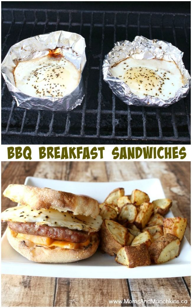 BBQ Breakfast Sandwiches Recipe  Grilled Fried Eggs On The Barbeque