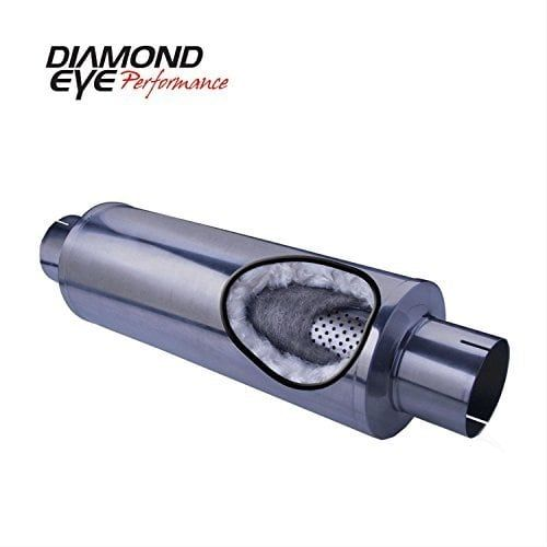 Diamond Eye Performance Muffler, 4In; Single In / Single Out