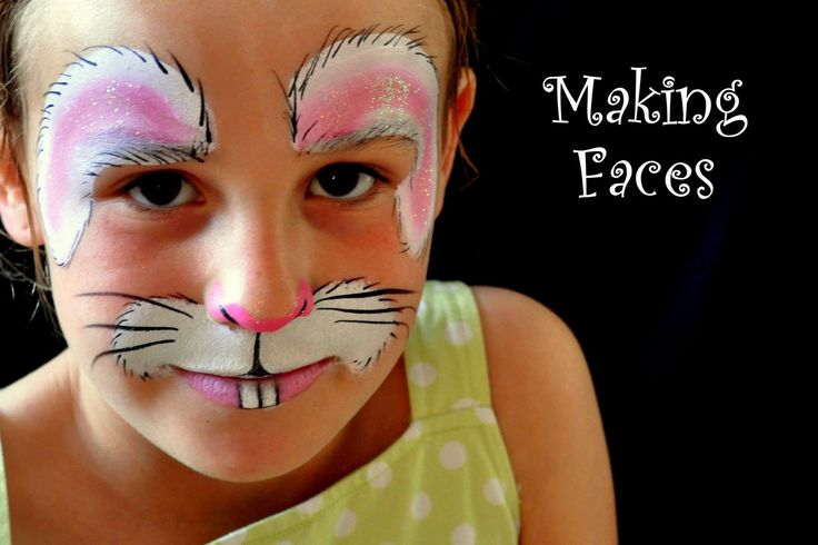 Halloween face paint: bunny rabbit