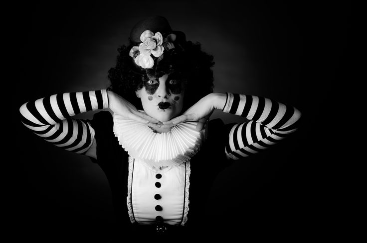 From a Creepy Clown shoot by Bruce Jenkins Photography with Cherry Boomb