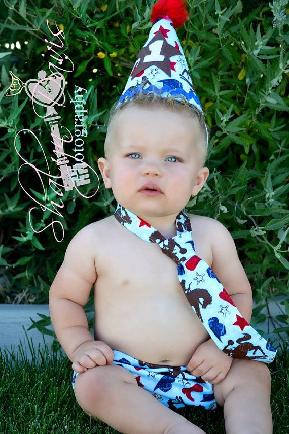 Baby Boy Toddler Western Cake Smash Outfit First
