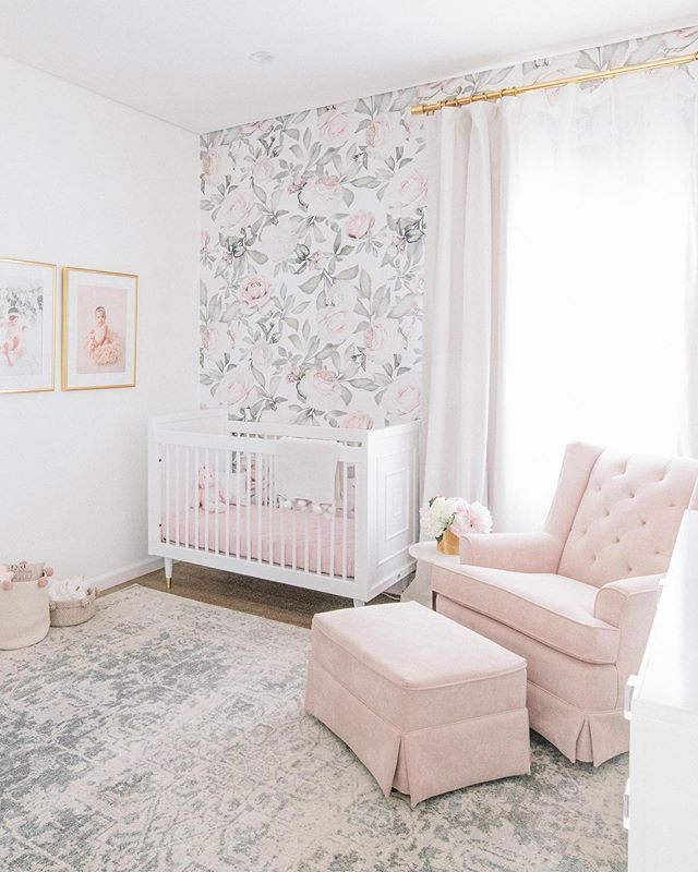 Blush And Gold Continues To Trend In The Nursery And Little Crown Interiors Totally Nails This Design Head Girl Nursery Room Nursery Baby Room Baby Girl Room