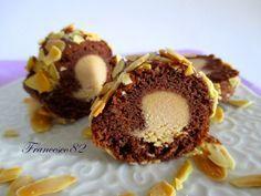 Biscuits aux amandes au chocolat, coeur crème à la confiture de lait - La cucina degli Angeli: Dulche de leche di Luca Montersino